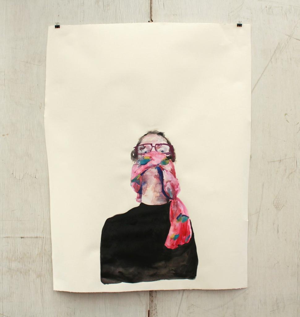 'Scarface - self portrait' , 2014, Jacqueline Mcleish. – available.